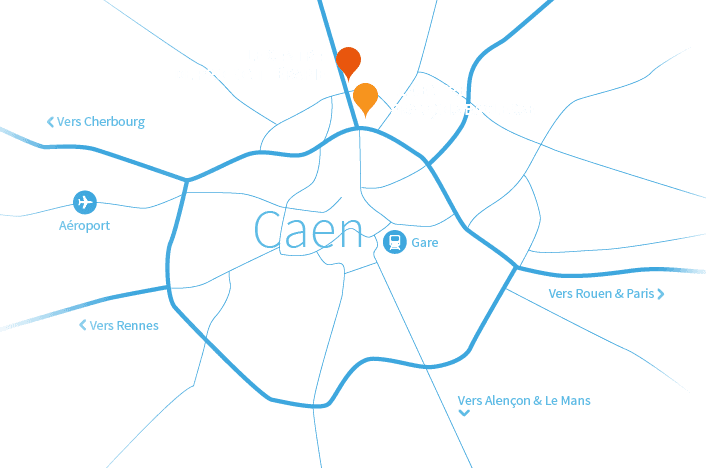 carte-caen-protontherapie-normandie